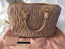Miu Miu handbags  Authentic  ,malatesse leather , made in Italy