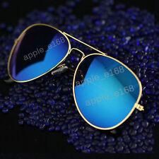 Unisex Women Men Vintage Sunglasses Retro Fashion Aviator Mirror Lens Glasses lk