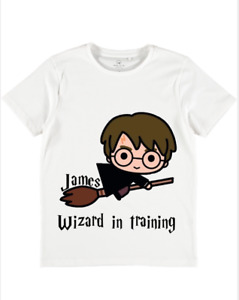 Personalised Name Harry Potter T Shirt Babies Boys Toddlers girls tops gift cute