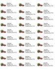 Внешний вид - Personalized Address labels Christmas Holiday Pickup Truck 150 Labels
