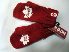 Hudson Bay Co. Canada 2012 Olympic Red Youth OS Gloves Mittens Maple Leaf NWT