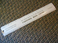 """Old Vintage 12"""" Ruler Advertising Parochial School Book Covers Chicago Illinois"""