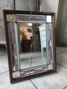 Vecchio Stile Liberty Specchio Muro Antico Spiegel French Art Deco Tiffany