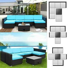 7 PC Patio Rattan Wicker Outdoor Sofa Set Sectional Couch Furniture Backyard