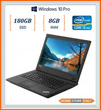 """pc portatile notebook usato ricondizionato 14"""" RAM 8GB SSD 180GB Lenovo L440 i5"""