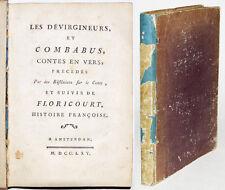 LES DEVIRGINEURS ET COMBABUS suivi de FLORICOURT histoire françoise 1765 Erotica