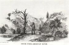 'South Fork, American River', California gold rush. George Cooper litho 1853