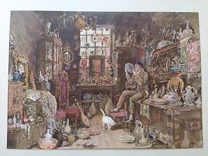 ORIGINAL 1902 'THE STUDIO' WATER-COLOUR PRINT ' OLD CURIOSITY SHOP ' BY B FOSTER