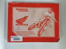 Honda CR 250 R 1991 Fahrer-Wartungshandbuch