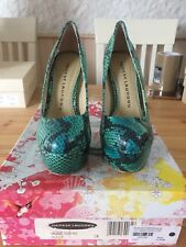 Blue Green Snake Effect Court Shoe Heels New Size 6 By Chinese Laundry