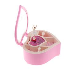 AUNMAS Music Box Piano Dancing Girl Jewelry Box Storage Case with Mirror for Home Decor Girls Birthday Gift