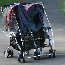 Diono Double Buggy Stroller Pushchair Rain Cover Universal Fit Plastic Protector