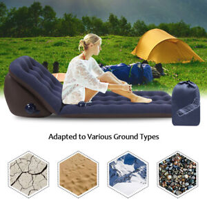 Air Bed Sofa Inflatable Mattress Travel Sleeping Camping Cushion Back Seat Pad