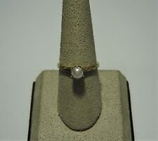 10k yellow gold pearl ring size 6.75 G-62-B