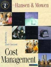 Cost Management: Accounting And Control, Hansen, Don, Mowen, Maryanne, Good Book