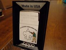 BOY SCOUTS BSA SPORTING CLAYS 2009 CHAMPION ZIPPO LIGHTER ALLEGHENY HIGHLANDS