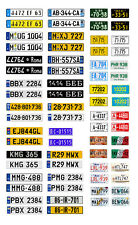 1/25 1/24 scale model car assorted international license plates tags 1:25