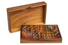 Holzspiel Domino Holz Legespiel Stategiespiel Reisespiel Holzbox Karibik Reise G