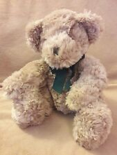 Russ Berrie Dexter Beige tan Teddy Bear green bow Plush stuffed animal toy 10""