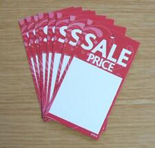 SALE PRICE TAGS SWING TICKETS LABELS FOR USE WITH TAGGING GUN  x 100