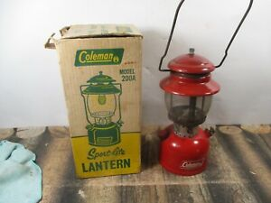 COLEMAN LANTERN 200 RED   W / BOX DATED 7 - 69  NO RESERVE
