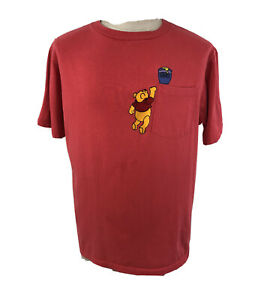Vintage 90s Winnie the Pooh Reach for the Honey Hunny Pocket T Shirt Mens Large