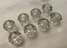 8 Vintage Glass Drawer Knobs, 10 Point, Cabinet, Dresser, Really SPARKLE Exc Con