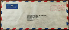 Canalzone Postage, Balboa, New Zealand to London Airmail Envelope posted 1967