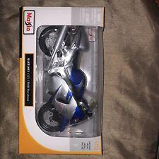 Maisto 1/12 Suzuki GSX 1300R Hayabusa Silver/blue