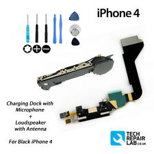 FOR iPhone 4 Replacement Charging Dock/Port + Microphone & Loud Speaker - BLACK