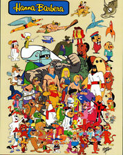 Hanna Barbera SUPER HEROES & CHARACTER COLLAGE PRINT Yogi Space Ghost Herculoids