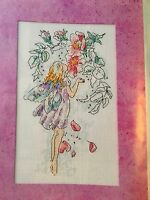 CROSS STITCH PATTERN Fairy Picture Fairy Wings Flowers Design CHART ONLY