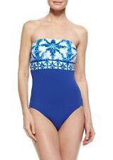 4e96676db1 Michael Kors Swimsuit Sz 8 Royal Blue Tile Bandeau Maillot One Piece MM23906