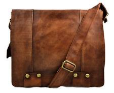 Borsa pelle vintage uomo donna borsa messenger marrone borsa tracolla pelle