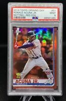 2019 Ronald Acuna Jr Rookie Cup RED FOIL PARALLEL (SP) Topps 🔥🔥 PSA 9  🤩