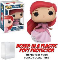 Funko POP! Disney ~ ARIEL (#220)(FLOWING DRESS) VINYL FIGURE w/Protector Case