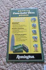 Premier Core-Lokt Ultra Bonded Remington rifle shell embossed  gun shop sign