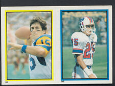 Topps 1984 American Football Sticker No's 249 & 99 - Sanford & Ferragamo (T506)