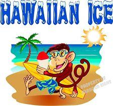 "Hawaiian Decal 36"" Shave Ice Concession Trailer Food Truck Cart Vinyl Sticker"