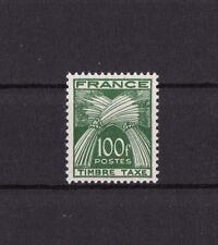 timbre France TAXE   sèrie gerbes timbre taxe  100f vert     num: 89   **