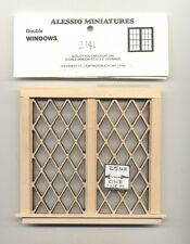 Window - Tudor Diamond Double - 2126 dollhouse miniature 1:12 scale USA made