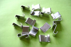 FREE POST*X* GREENHOUSE GLAZING POLISHED ALUMINUM Z CLIPS CHOOSE FROM 20 TO 500