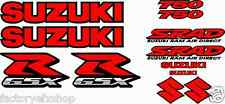 GSXR750 Fairing Decal Stickers 750 Emblem Decals Red Graphics Sticker Srad gsxr