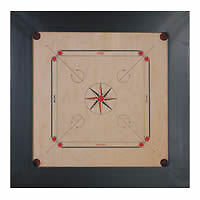 Synco Champion Tournament Carrom Board 8 mm with Free Striker & Coins