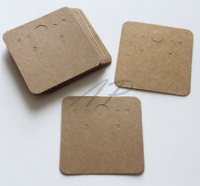 Wholesale 500pc Blank Earrings Display Card in Kraft Paper for Accessory Jewelry