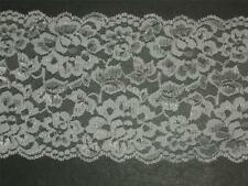 "White lace trimming fabric scalloped multi bridal trim By the yard 5 3/8"" wide"