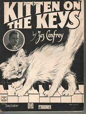 Kitten on the Keys 1921 Zez Confrey Piano Solo Sheet Music