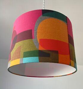 Lampshade Bright Abstract Mid Century Drum Light Shade