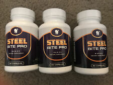 Steel Bite Pro Teeth Supplement 180 capsules NEW Bottles! 3mos Supp NOT FAKE
