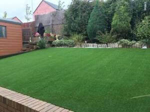 FAKE ARTIFICIAL GRASS LAWN OFF CUTS Kensington 06/21 no4 4 x 3 m = 12 m2